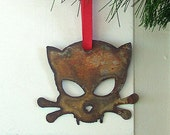 Rustic Outlaw Kitty Ornament by WATTO Distinctive Metal Wear