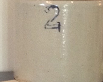 Vintage Crock Jug with Stopper #2
