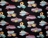 Reserve order for Barrett222 - 2 yds Diners & Driveins fabric