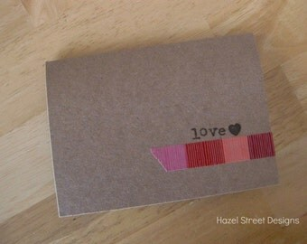 simple *love* note card