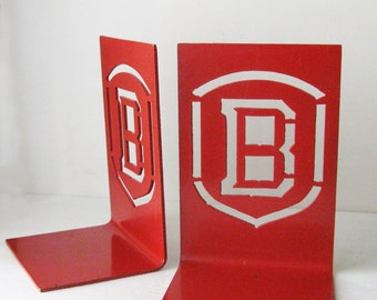 Vintage B Bookends, Bradley University