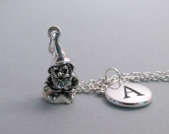 Gnome Silver Plated Charm jewelry Supplies
