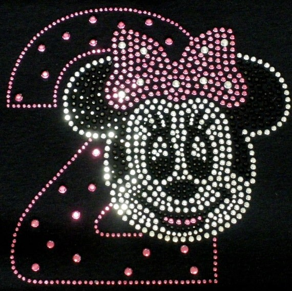 Minnie Mouse 2nd Birthday Iron On Rhinestone Transfer In