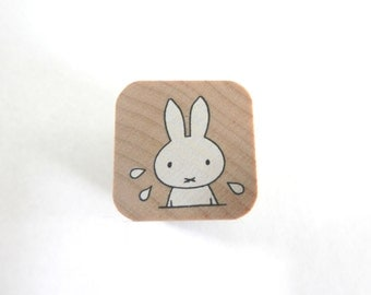 Miffy Stamp - Kodomo no Kao Bruna Stamp Series - Miffy in a panic