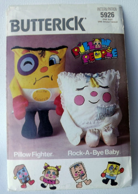 Pillow Fighter Rock A Bye Baby People Sewing Pattern