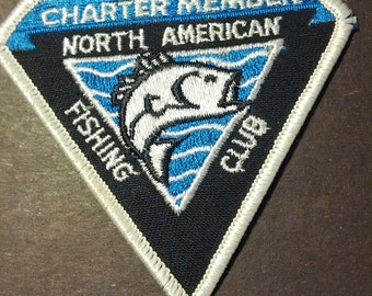 North American Fishing Club patch embroidered fish boho grunge uniform