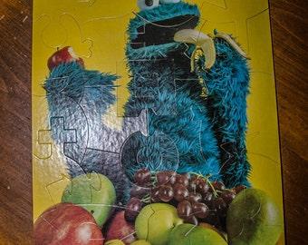 Vintage 1976 Cookie Monster Sesame Street Puzzle