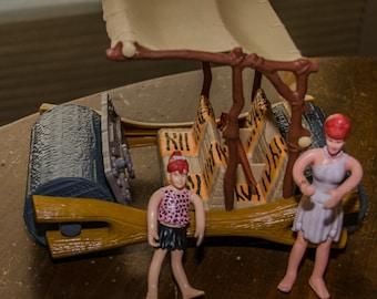1993 Flintstone Movie Flintstonemobile Car with Figures