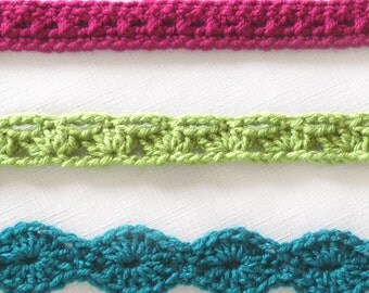 Accent Belts - PDF Crochet Pattern - Instant Download