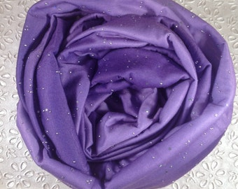 Fabulous Violet Purple Diva Bling Star Jersey Infinity Loop Scarf - GET WHILE AVAILABLE