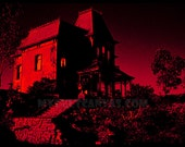 "Original Hitchcock ""Vacancy"" Psycho Art Print Norman Bates Motel Horror Movie Poster"