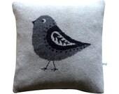 40cm Lambswool Bird cushion
