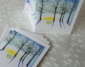 Solstice Holiday Cards - set of 4 blank cards