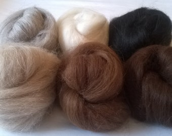 Heidifeathers Baby Alpaca Wool Fibres Mix - Felting and Spinning