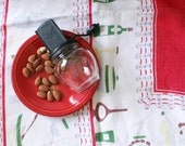 uniform nut grinder chopper black bubble jar vintage retro kitchen