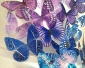 new colors BUY 45 get 6 FREE edible butterflies - 3D butterfly decoration - edible cake decoration - wedding favors by Uniqdots on Etsy