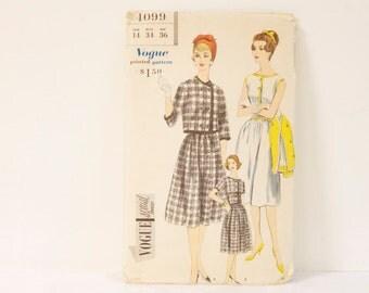 Vintage 1950s Vogue One piece Dress and Jacket Pattern 4099 size 14