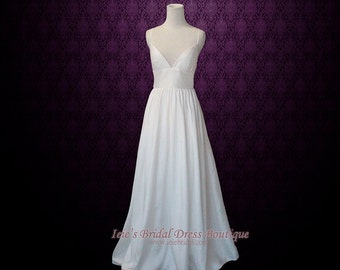 Simple Yet Elegant Slim A-line Wedding Dress with Sweetheart Neck Line and Low Back