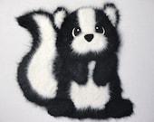 Skunk TEAR BEAR Scrapbook Page Paper Piecing Card