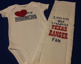 Texas Ranger Baby Set