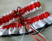 New Jersey Devils-Theme Wedding Garter Sport Garter