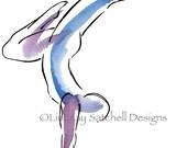Yoga art print - Handstand