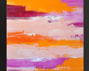 Sorbet 7- 36 x 24 - Abstract Acrylic Painting - Contemporary Wall Art ~ On Sale