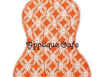 801 Zig Zag Pumpkin Machine Embroidery Applique Design
