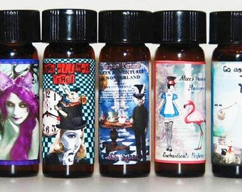 The entire set of 10 Gothic Artisan perfume oils 1/8 fl oz each from the Go Ask Alice Collection