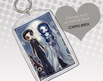 Corpse Bride Chibi Art Keychain