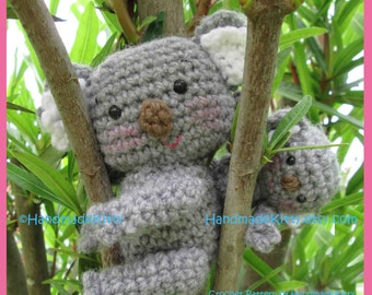 Mommy Koala and Baby Koala Amigurumi PDF Crochet Pattern by HandmadeKitty