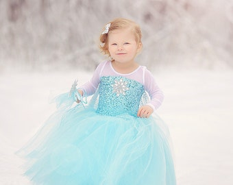 Frozen  Elsa  inspired dress  tutu costume 12 month