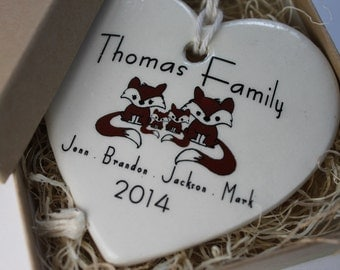 CUSTOM - Family Christmas Ornament -your family's names, choice of image and year