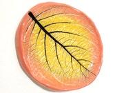 Spoon Rest, Ceramic Leaf Dish