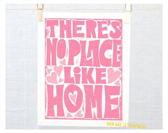 There's No Place Like Home, Wall Art, Housewarming Gift, Mothers Day, Mom, Mother's Day, Dorothy