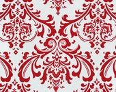 Red Valance Curtain Red Floral Damask Valance Drapery Window Treatments Red Home Decor Modern