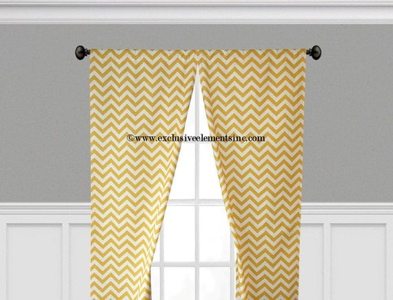 yellow curtains zig zag chevron curtain panels living room kitchen