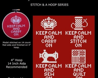 Stitch and a Hoop Keep Calm Collection Cross Stitch PDF