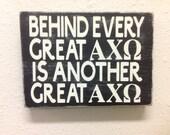 Alpha Chi Omega sign primitive sorority Greek letters
