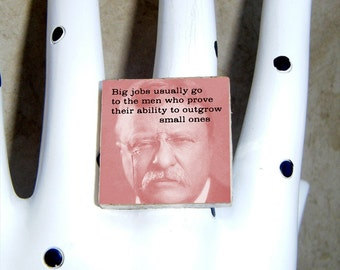 Theodore ROOSEVELT ring earrings pendant brooch cuff links