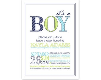 Baby Shower Invitation //you can change the colors// Kayla design