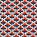 SALE - Cloud 9 Fabrics - Enchanted by Michelle Engel Bencsko - Organic Raven Moon in Coral