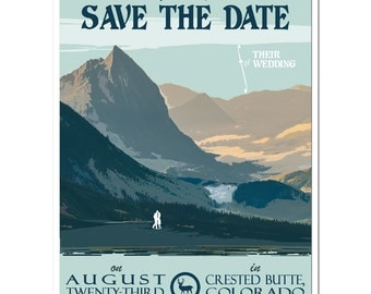 Vintage Crested Butte, CO Save the Date - SAMPLE
