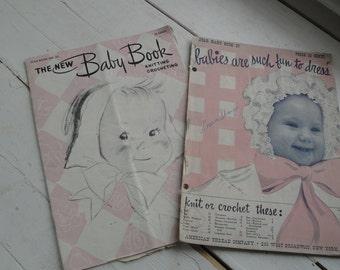 Vintage Baby Knit Crochet Pattern Books Star