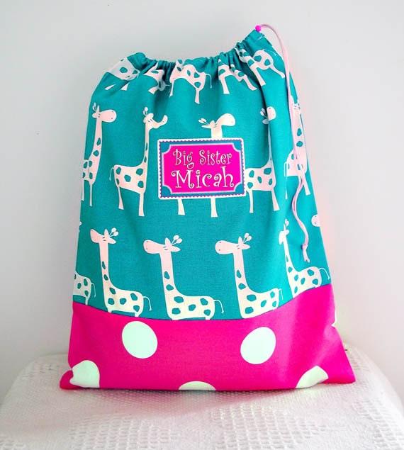 Huge Laundry Bag, 25 X 32 Bedding Bag, Kid's Summer Camp Bag, Sleeping Bag Cover, Summer Beach Bag, Drawstring Bag