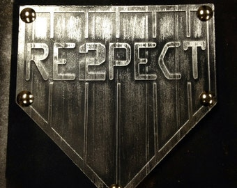 12x12 Home Plate Faux Steel Metal Pop Art Baseball Custom Ready To Hang Wall Art Industrial Vintage Style Mancave Sports
