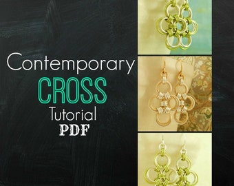 Contemporary Cross Earrings PDF - Expert Tutorial