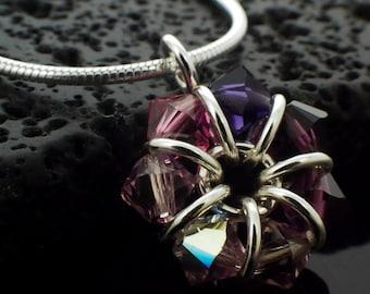 Amethyst Swarovski Crystal Eternity Necklace or Pendant Kit - February and June Birthstone