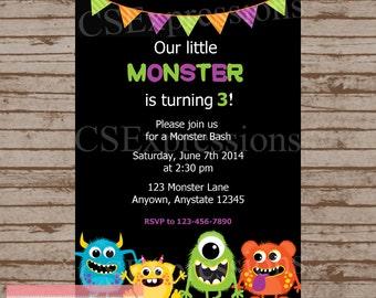 Monster Bash Birthday Invitation