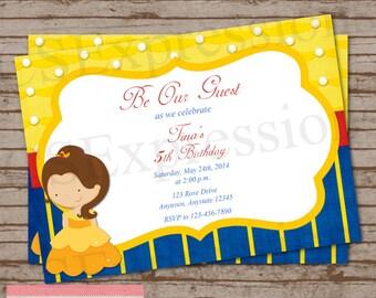 Little Golden Princess Birthday Party Invitation